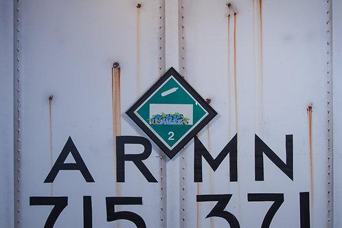 Cink Vintage Chessie Systems Hazard Warning sign