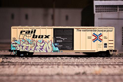 Vilen 50' Rail Box Boxcar Ho Scale