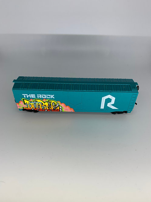 Duble Route Rock 50' Boxcar HO Scale