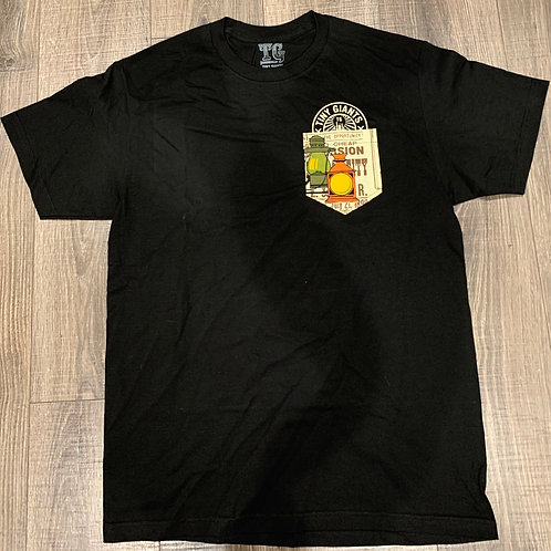 "Tiny Giants ""Pocket Peeper"" Vintage Dreams T-Shirt -Black"