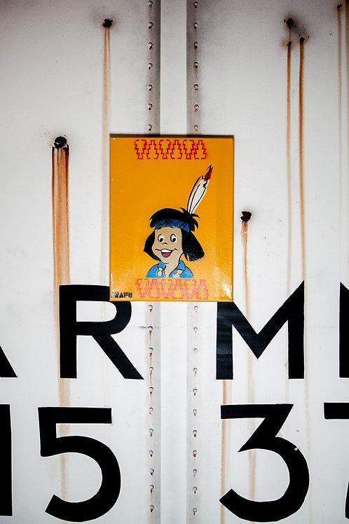 Snafu Santa Fe Chico Stencil on Canvas