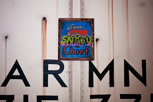 Snafu Santa Fe Super Chief Sign