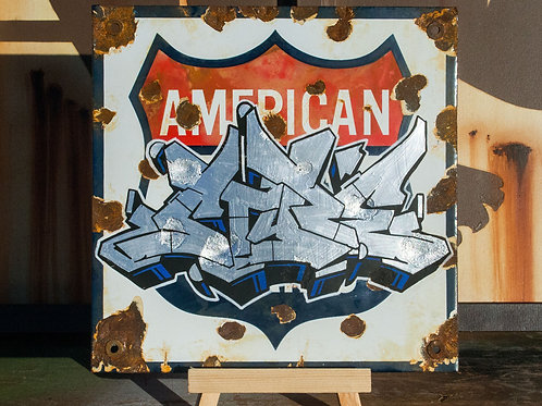 Style American Flyer Sign
