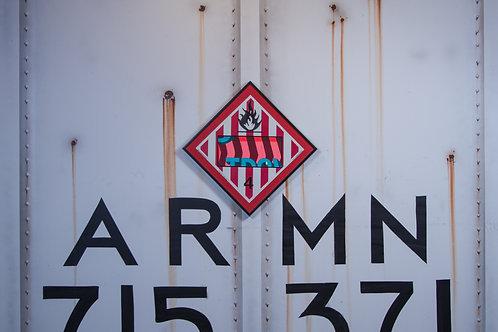 Trav Vintage Chessie Systems Hazard Warning sign