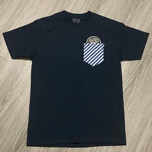 "Tiny Giants ""Pocket Peeper"" T-Shirt -Navy Stripe"
