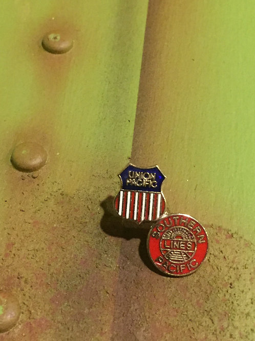 Union/Southern Pacific Merger Logo Pin