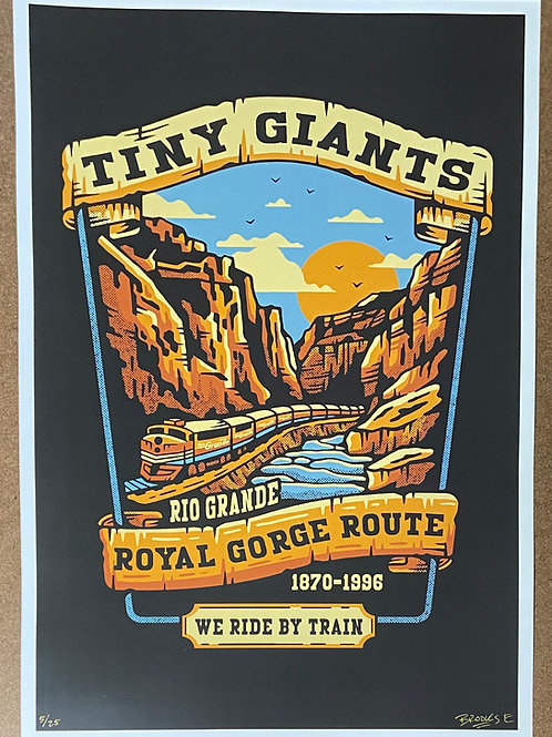 "TG X WRBT ""Vintage Routes"" S/N Print -Royal Gorge"