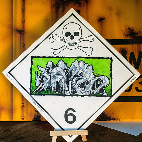 Chessie Systems Hazard Warning Place Card by Bones