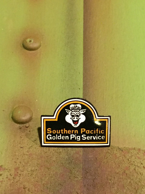 Southern Pacific Golden Pig Original Logo Pin