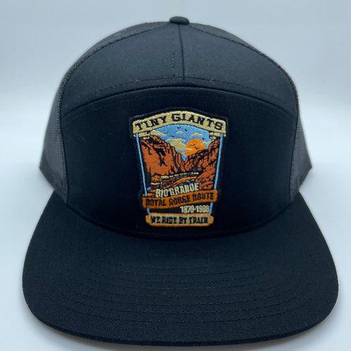 Tiny Giants/WRBT Rio Grande 7 Panel Meshback Hat Black
