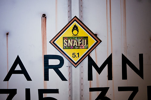 Snafu Vintage Chessie Systems Warning Sign