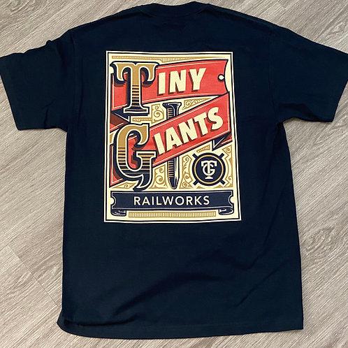 "Tiny Giants ""Vintage Spike"" T-Shirt -Navy"