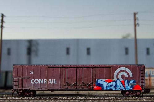 Trav 60' Ho Scale Conrail Boxcar