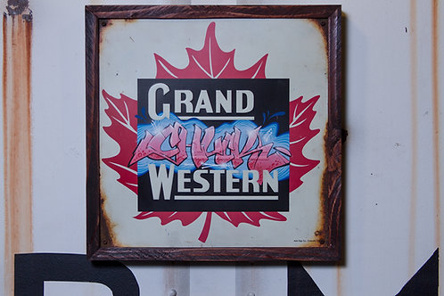 Chuck Vintage Grand Trunk Western Sign