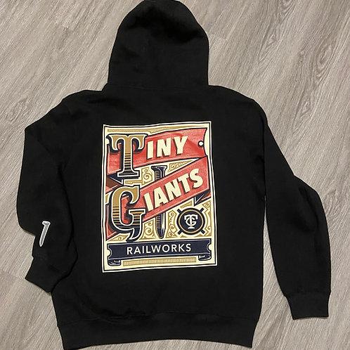 """Tiny Giants """"Vintage Spike"""" Hoodie -Black"""