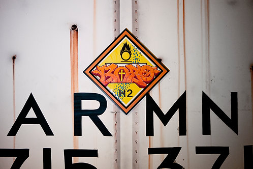 Bozo Vintage Chessie Systems Warning Sign