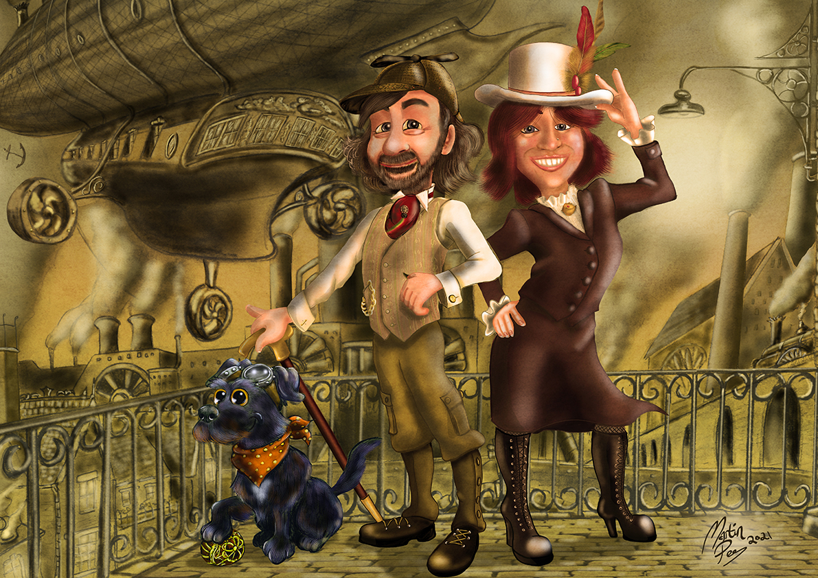 Steampunk Cartoon Portrait