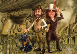 Steampunk Cartoon Portrait