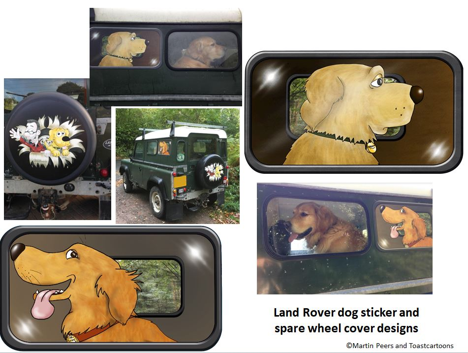 Spare wheel cover and Dog Stickers