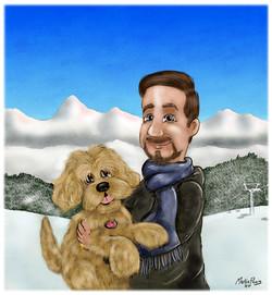 Cartoon Portrait by Martin Peers