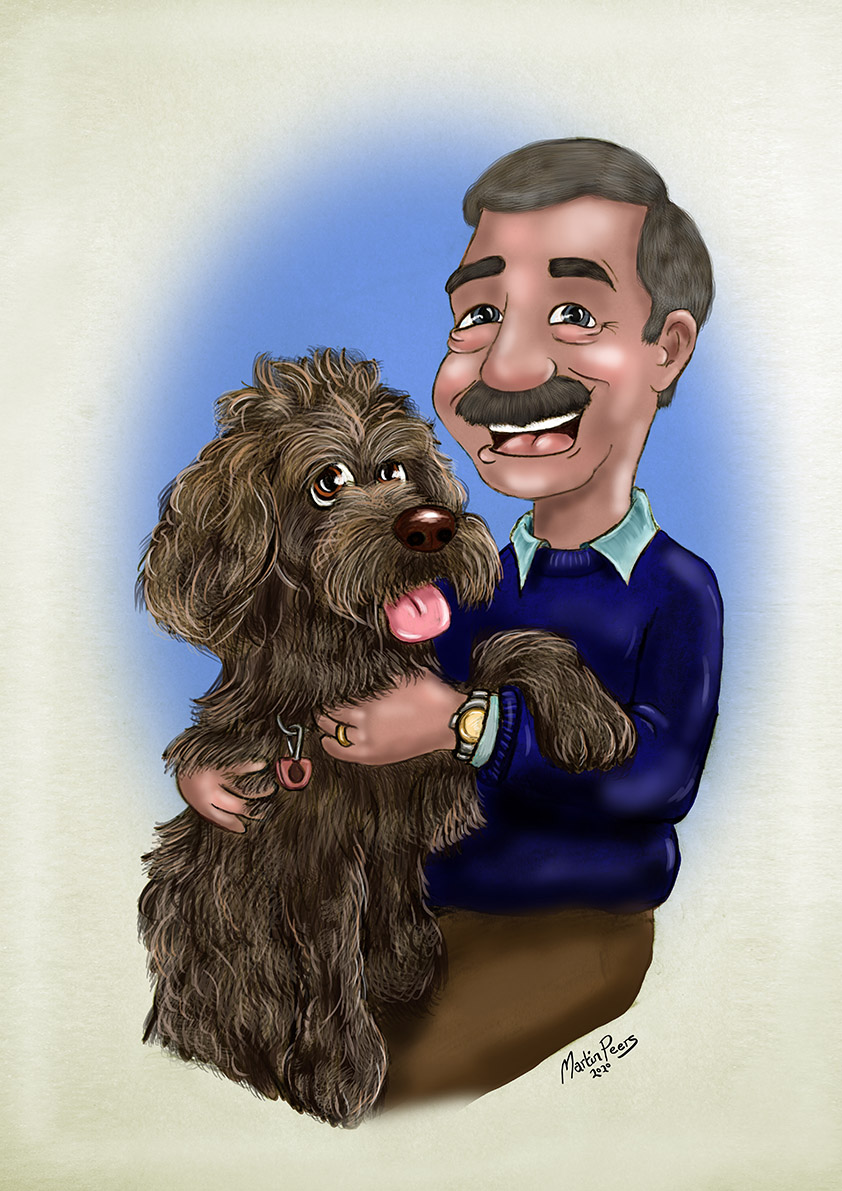 Cartoon Portrait by Martin Peers