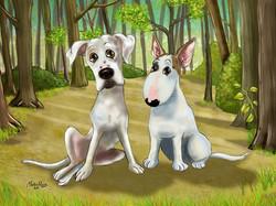 Dog Cartoon Portraits by Martin Peers