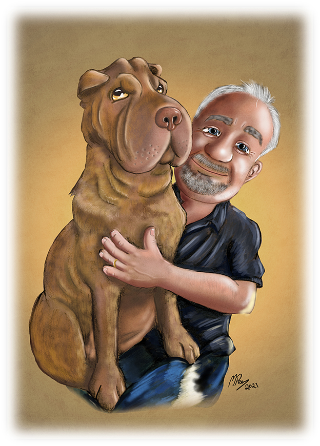 Cartoon Portrait - Lapdog