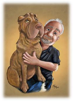 Cartoon Portrait - Lapdog