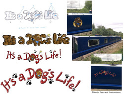 Canal Boat Name Art
