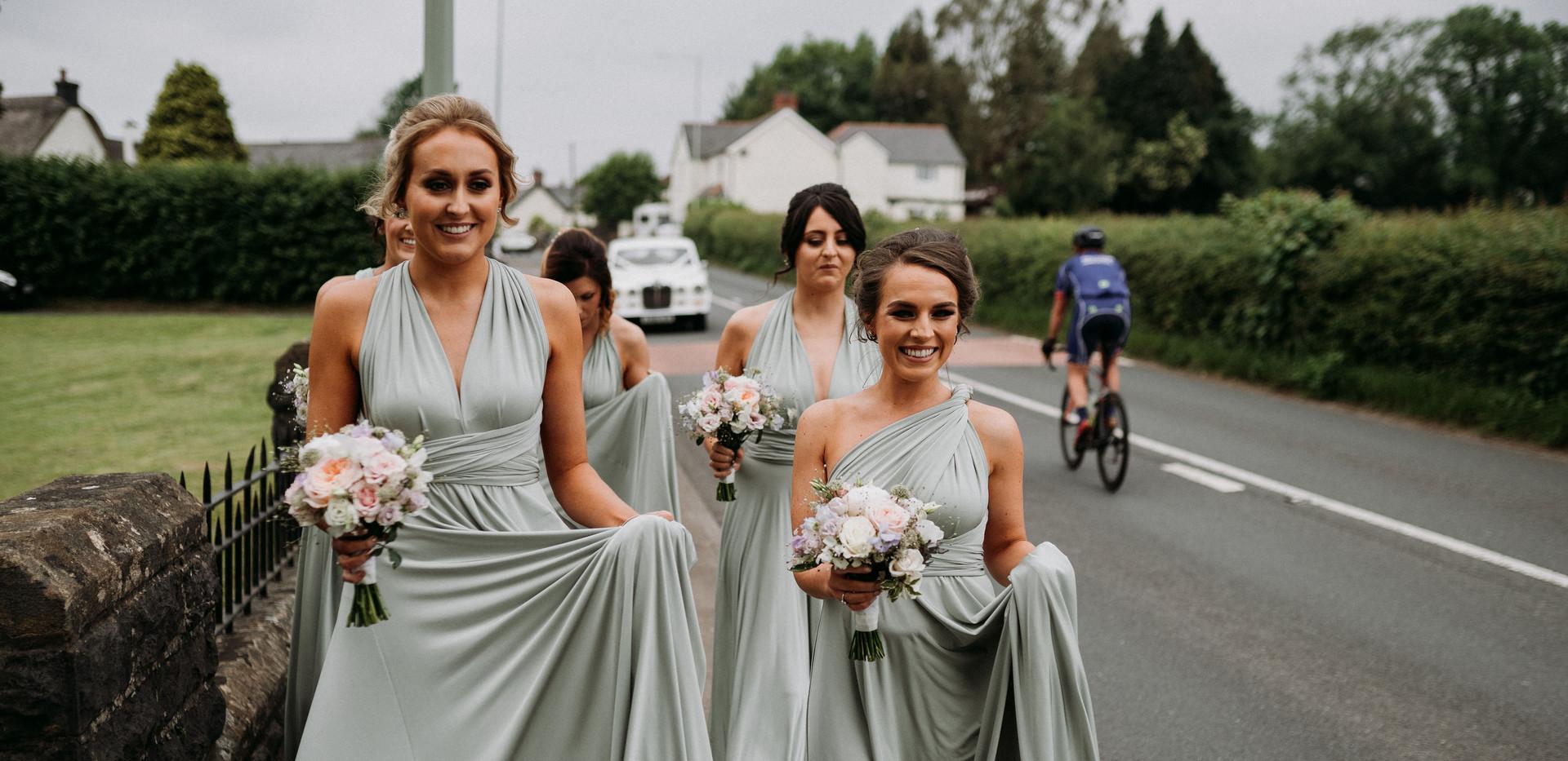 Bridesmaids' flowers