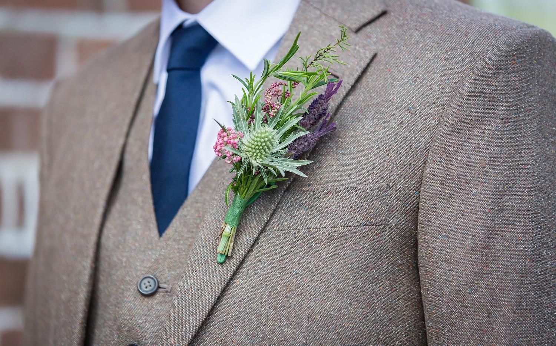 Farm wedding buttonhole