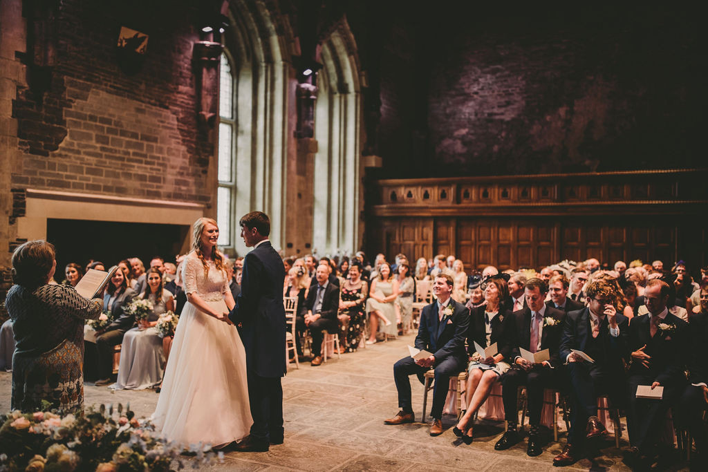 Wedding ceremony Caerphilly Castle
