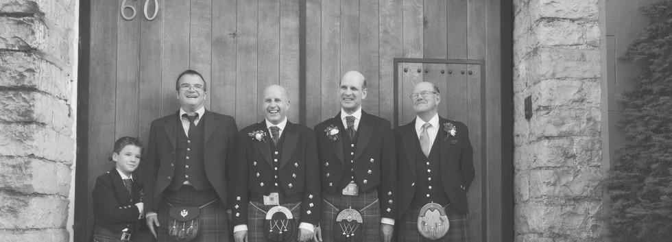 Scottish groom and bestmen