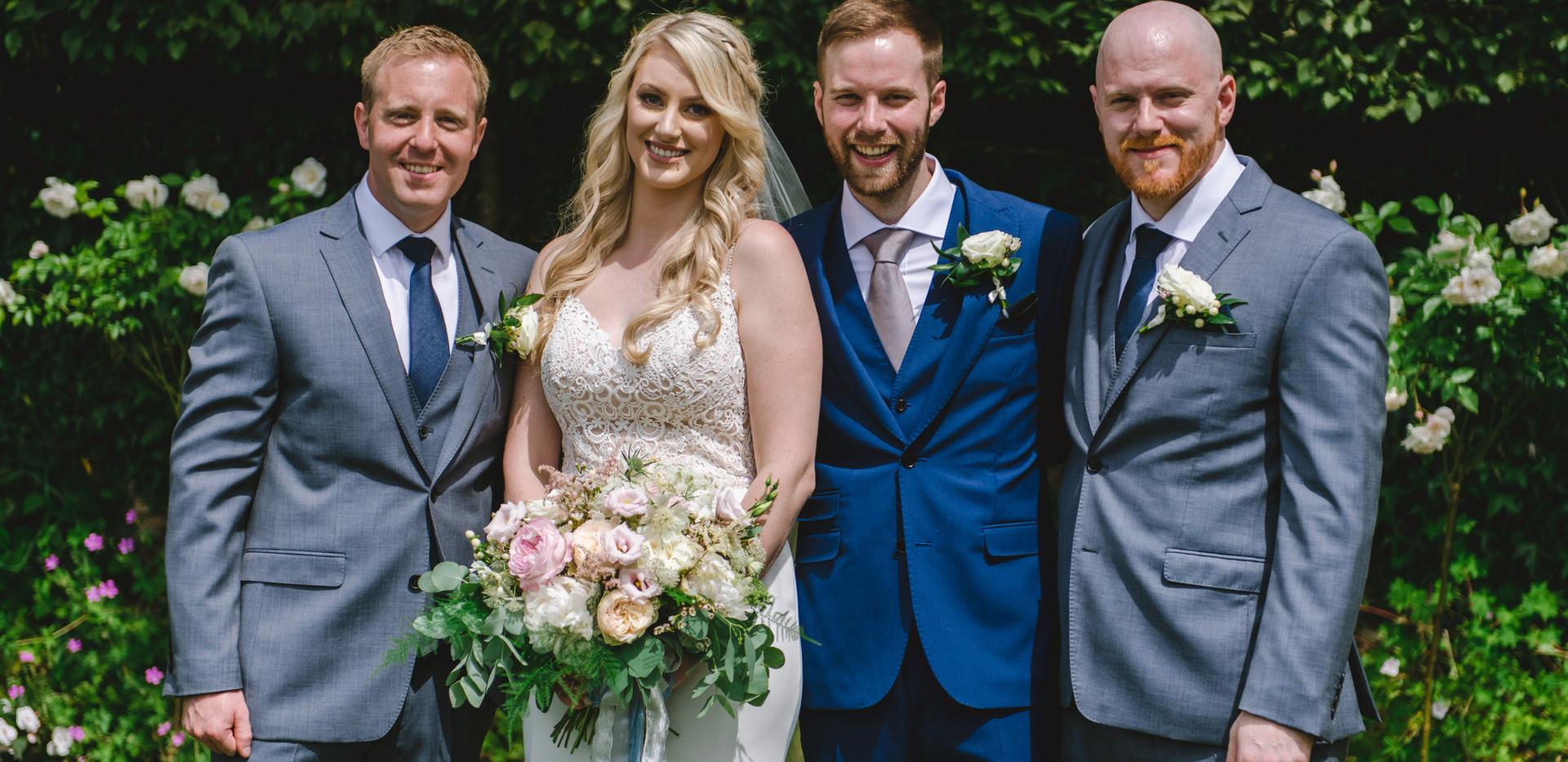 Blush wedding bridal bouquet