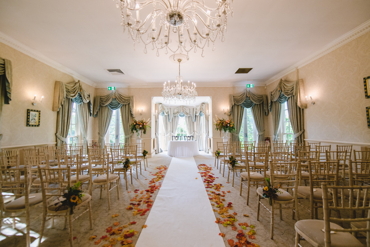 De Courcey's wedding ceremony