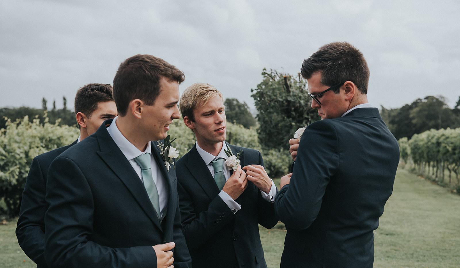 Groomsmen buttonholes