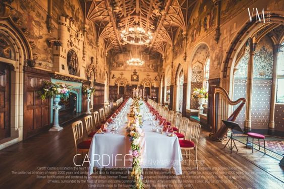 Cardiff castle banqueting hall wedding
