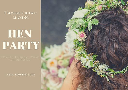 Hen party flower crown making