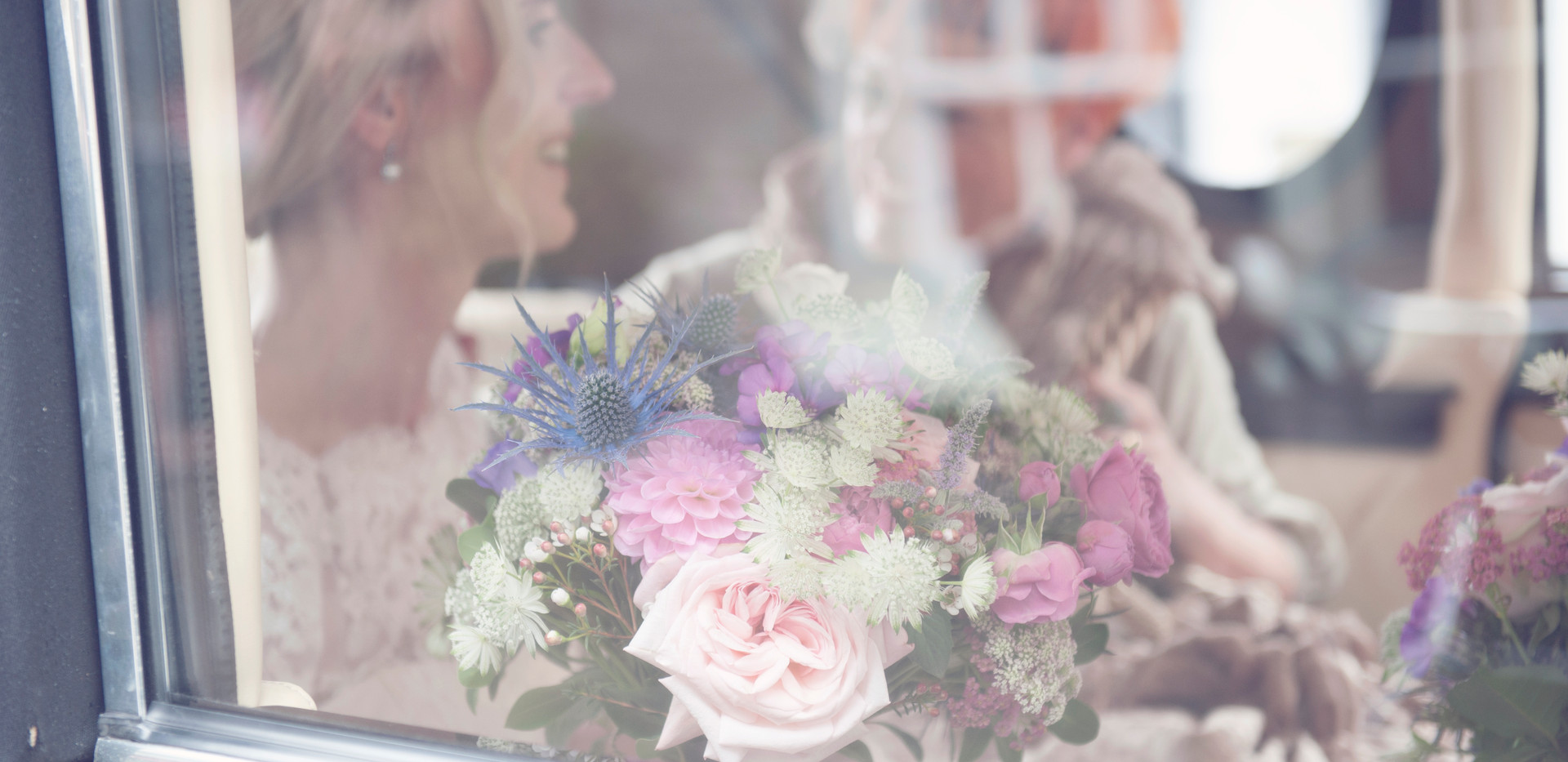 Bridal bouquet in shades of pink