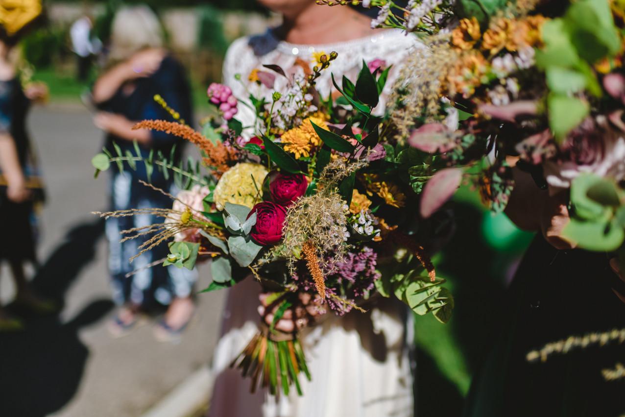 Textured wedding bouquet