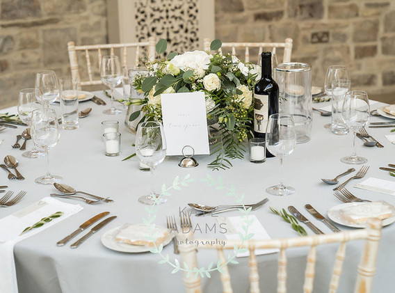 Stylish wedding table centrepiece