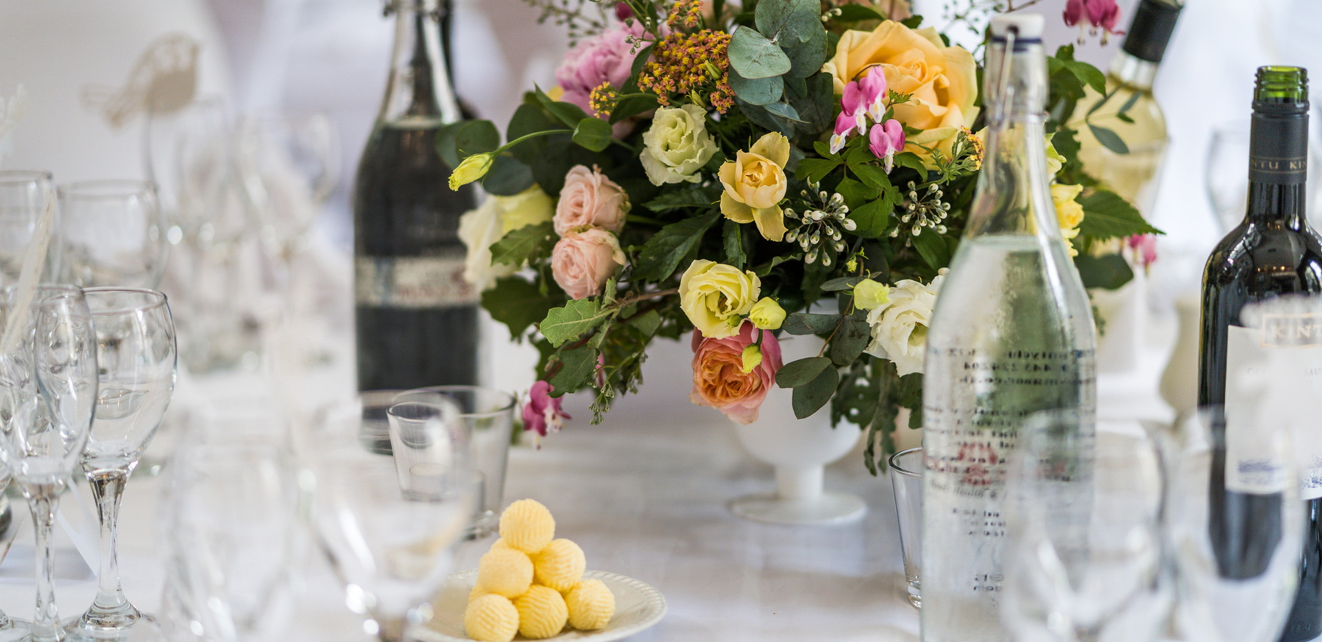 Summer table centrepieces