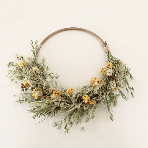 Dancing grasses wreath