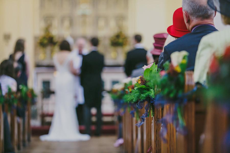 Wedding ceremony in church Penarth