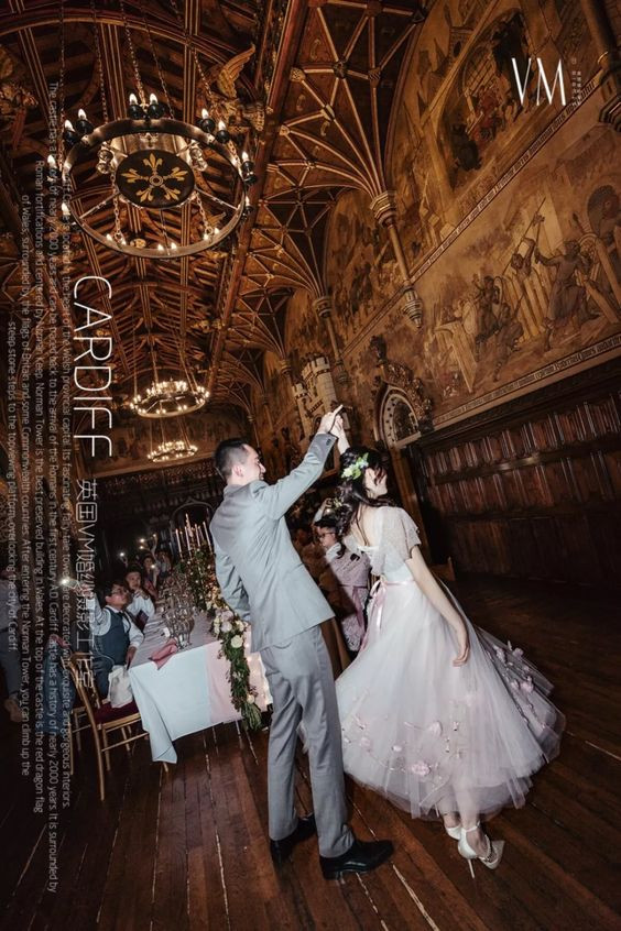 Wedding dance in Cardiff Castle