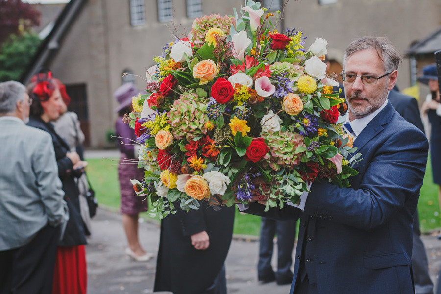 Autumn Wedding Pedestal Flowers