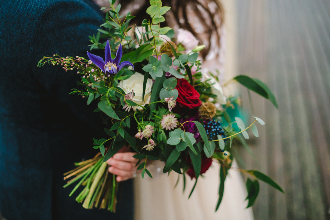 A relaxed style wedding bouquet
