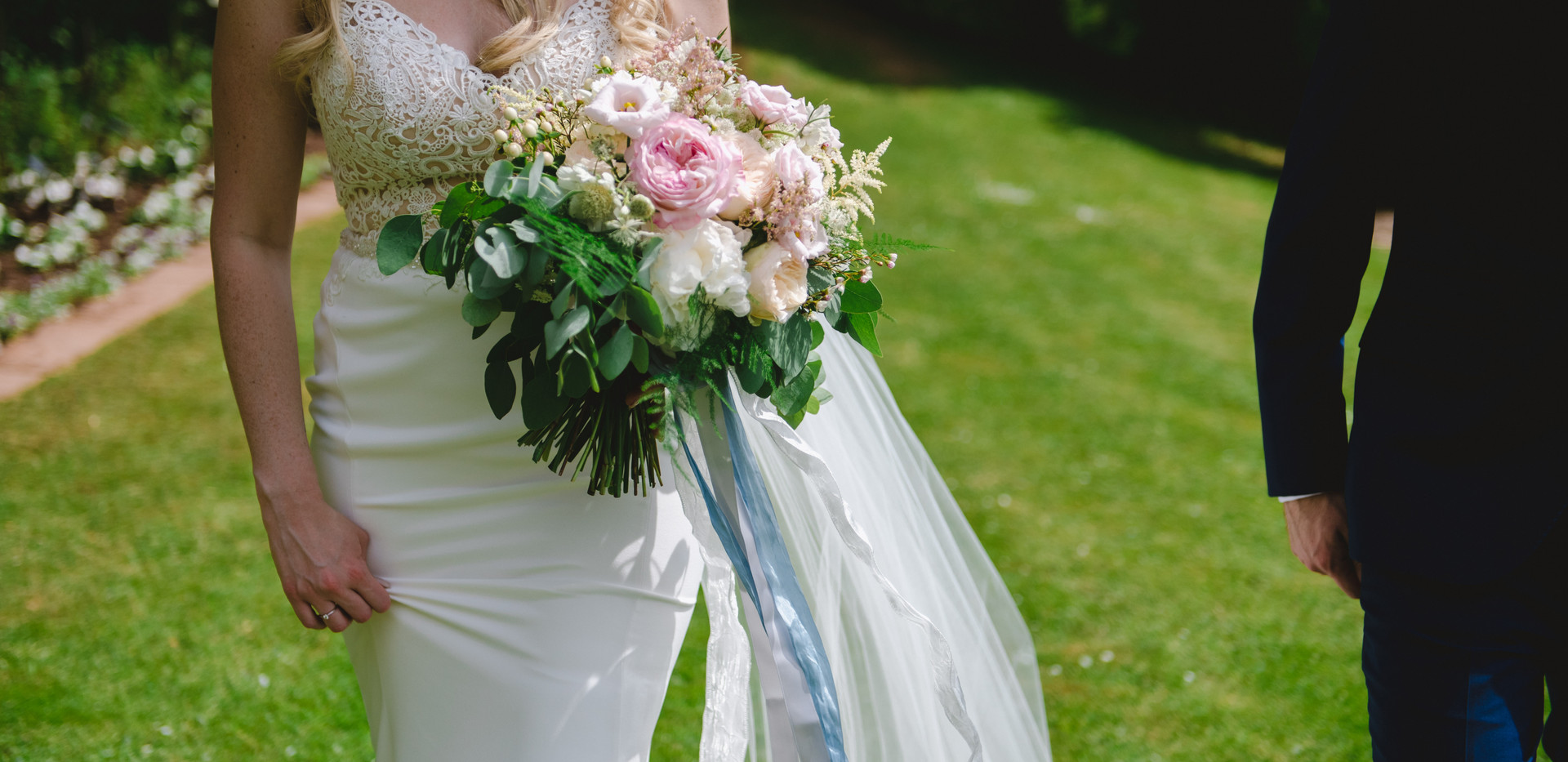 Romantic wedding flower bouquet