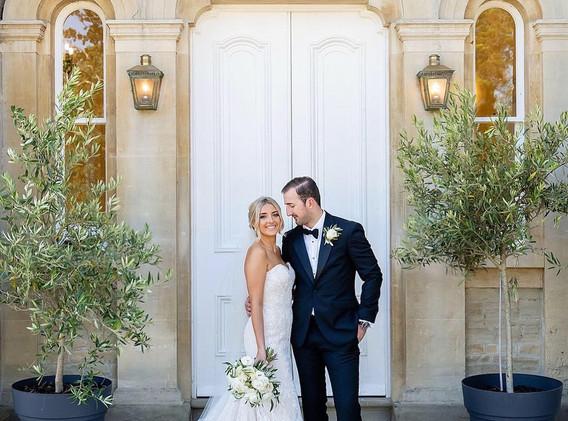 Stylish white wedding at St Tewdrics