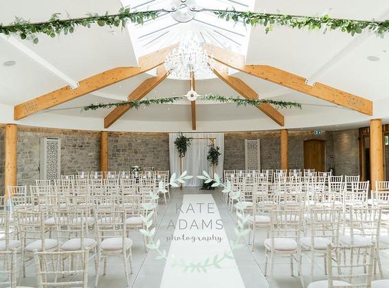 Wedding ceremony room in St Tewdrics